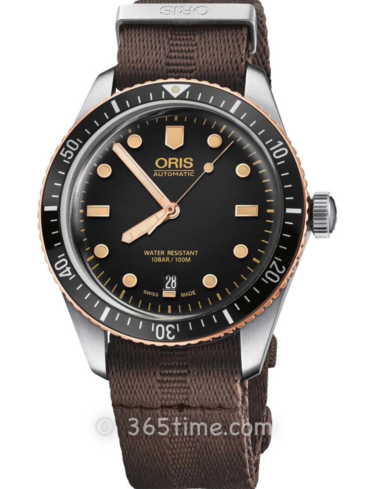 Oris豪利时潜水系列65年复刻版潜水腕表01 733 7707 4354-07 5 20 30
