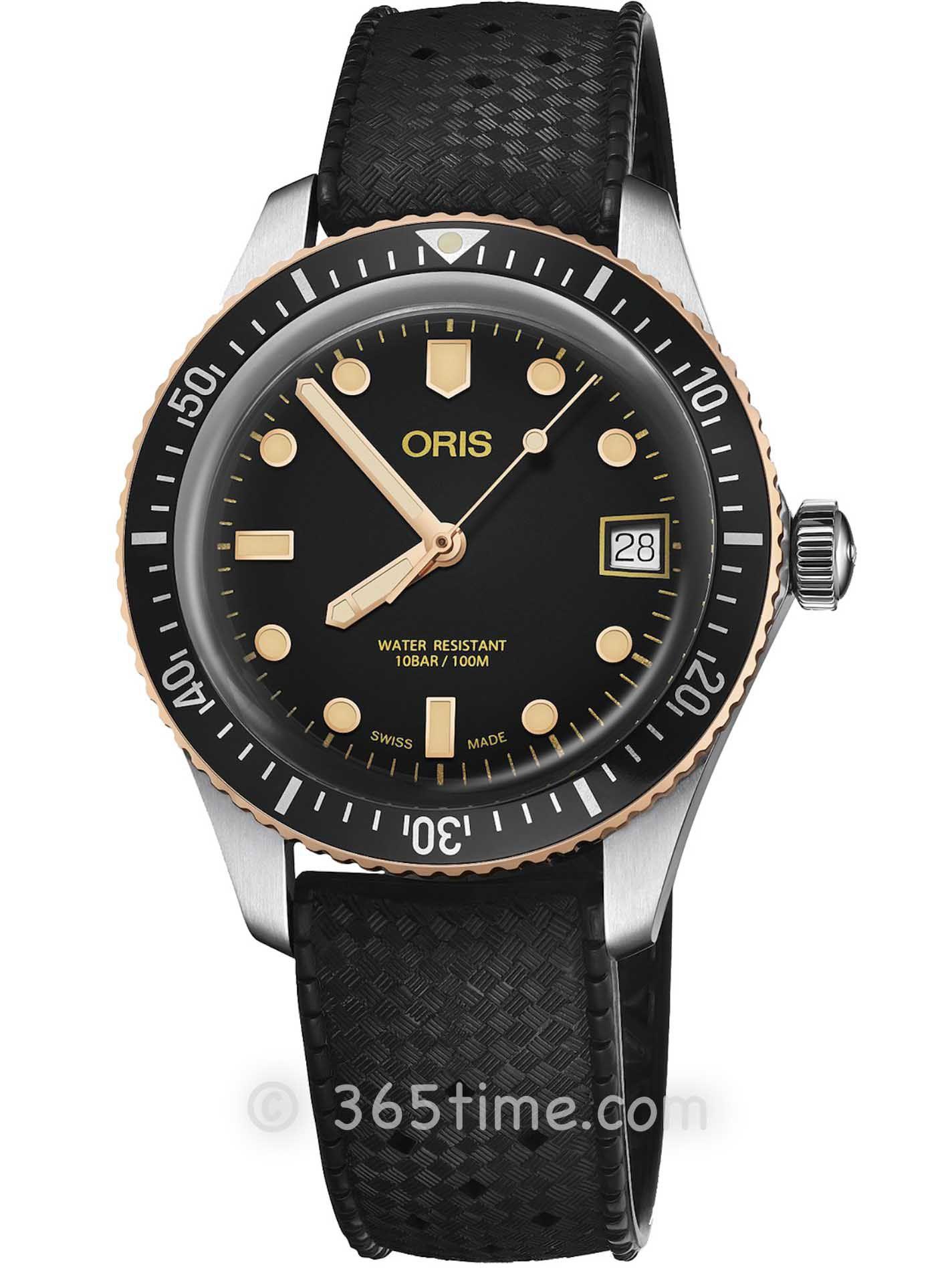 Oris豪利时潜水系列65年复刻版潜水腕表01 733 7747 4354-07 4 17 18