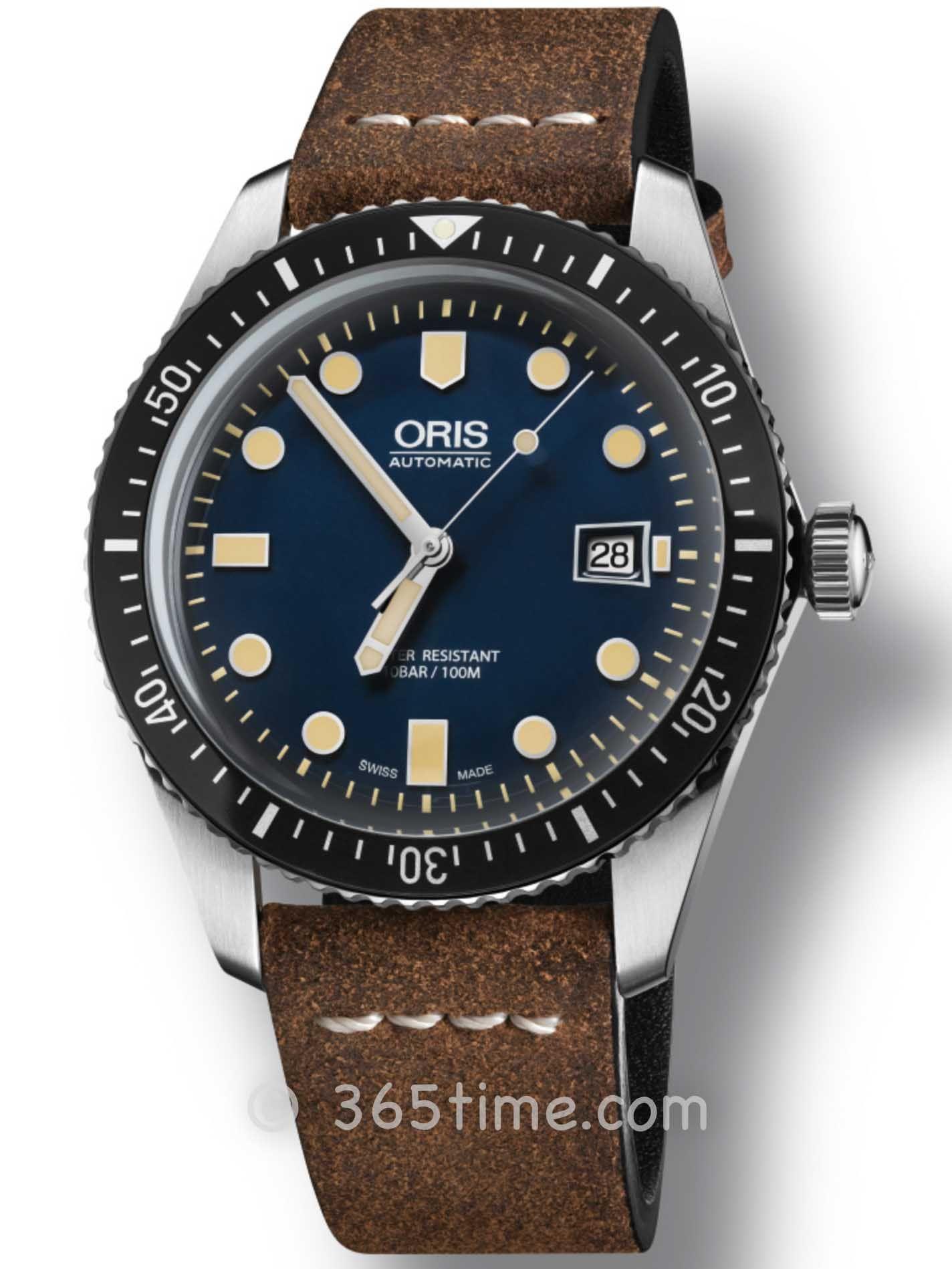 Oris豪利时潜水系列65年复刻版潜水腕表01 733 7747 4055-07 5 17 45