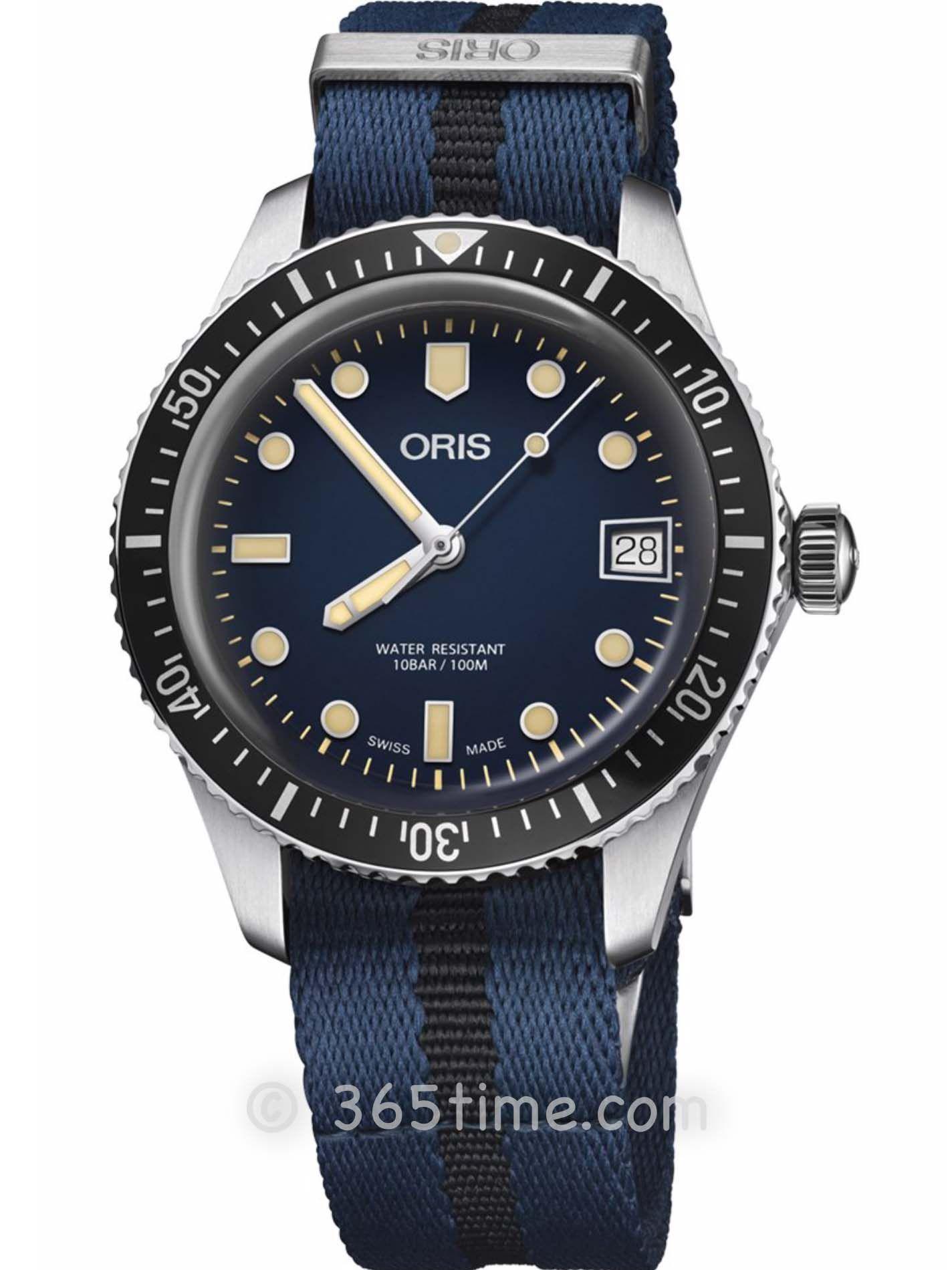 Oris豪利时潜水系列65年复刻版潜水腕表01 733 7747 4055-07 5 17 28
