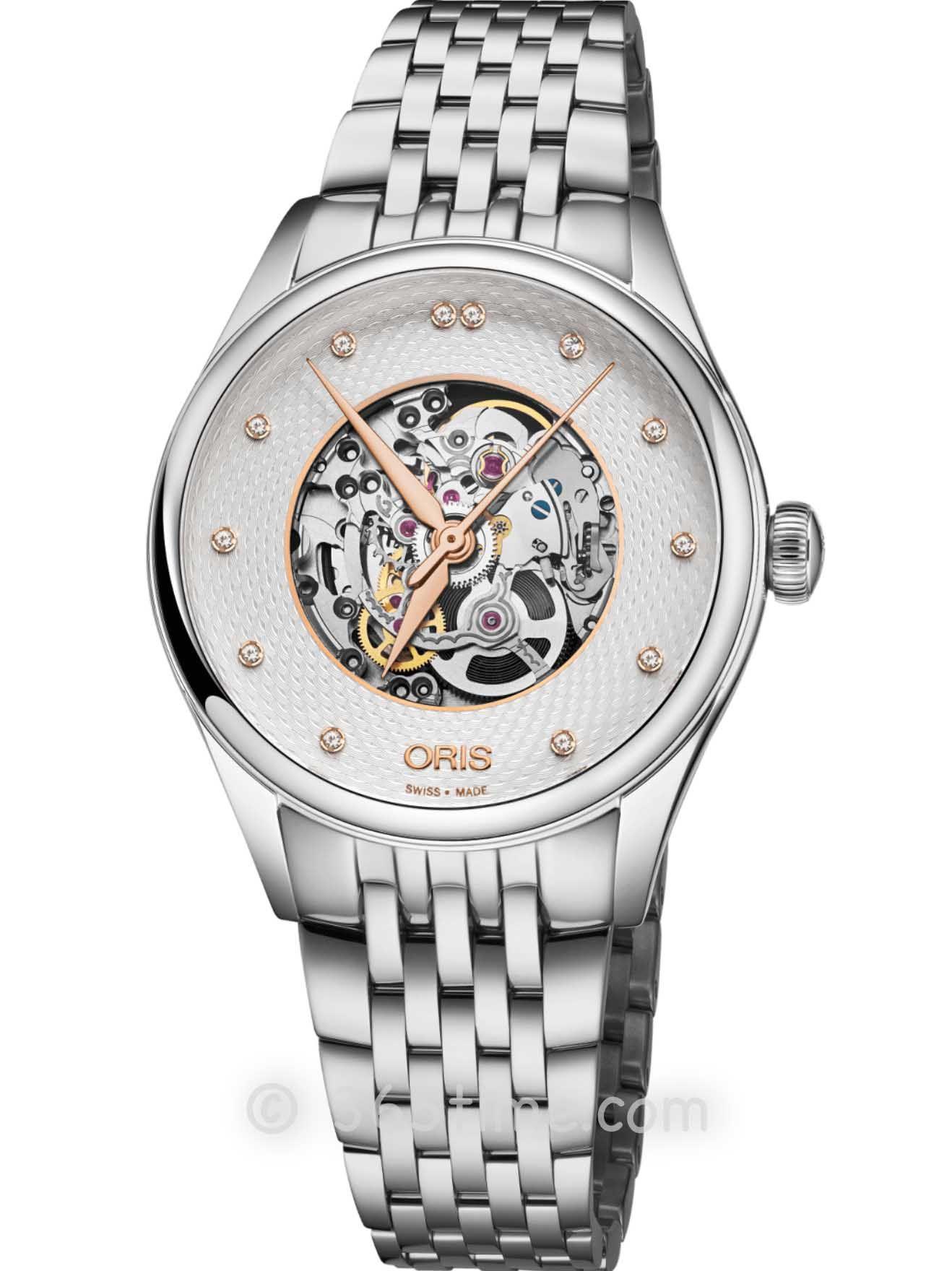 Oris豪利时文化系列镂空钻石腕表01 560 7724 4031-07 8 17 79