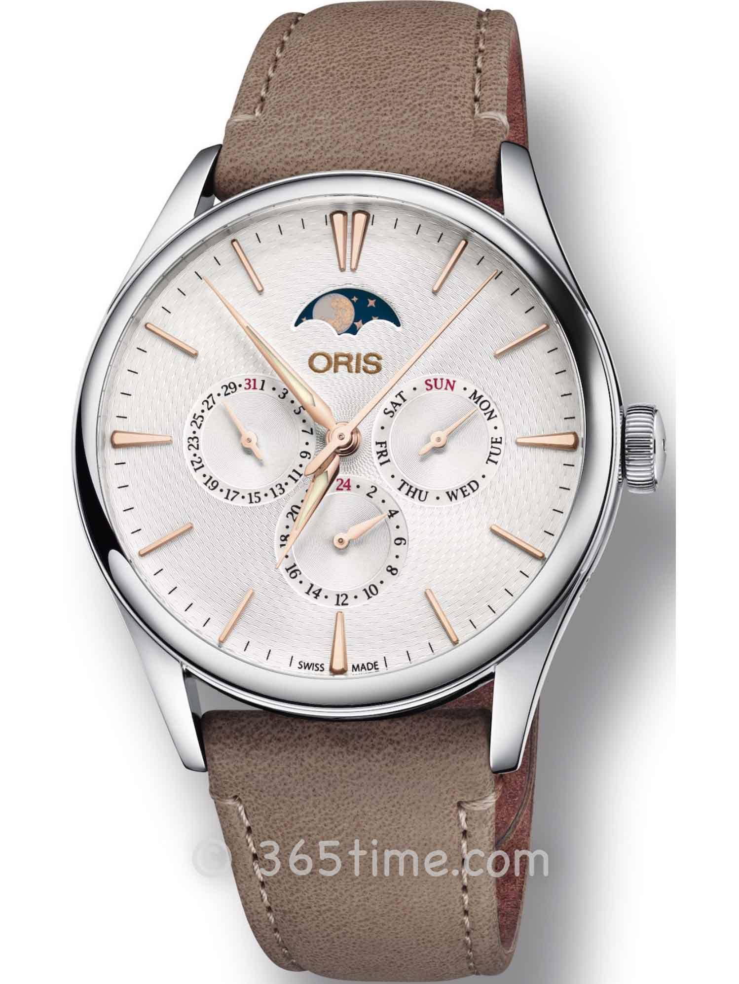 Oris豪利时文化系列天文台日历腕表01 737 7721 4031-07 5 21 32FC