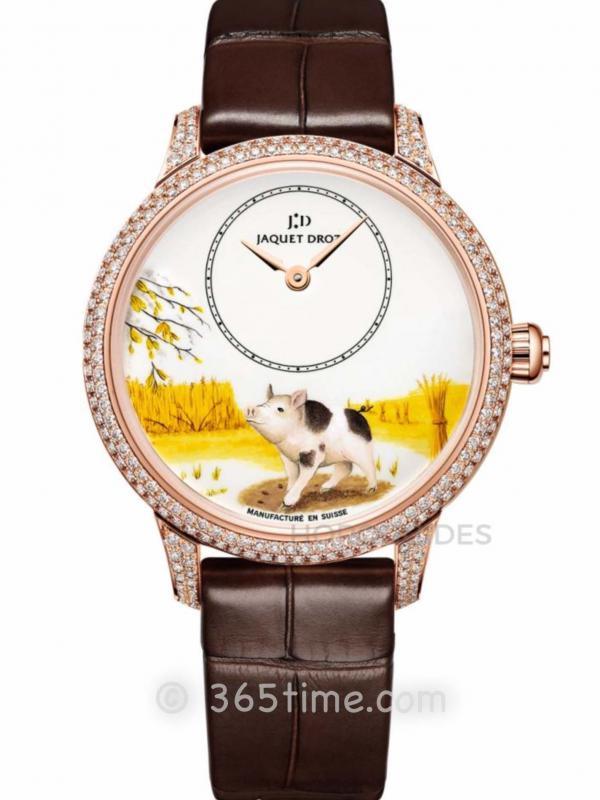 雅克德罗十二生肖手表之猪年限量款手表J005003225