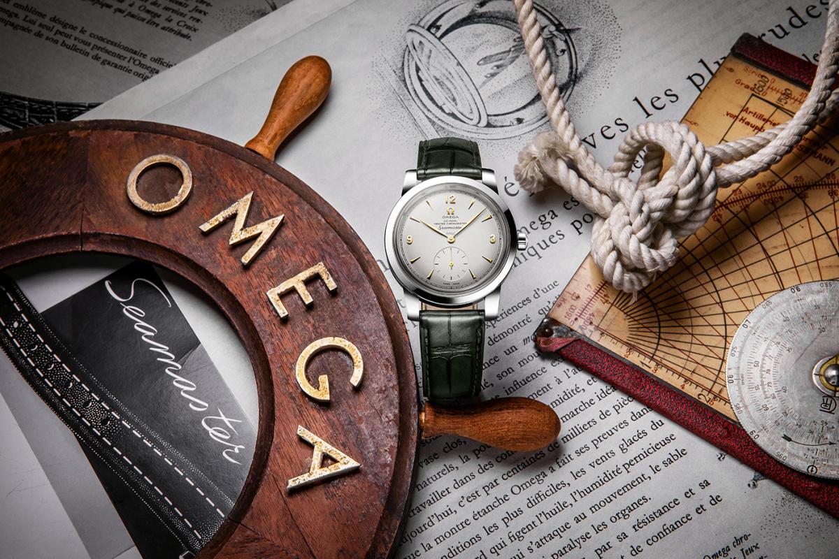 欧米茄海马系列1948小秒针限量版腕表铂金款511.93.38.20.99.001