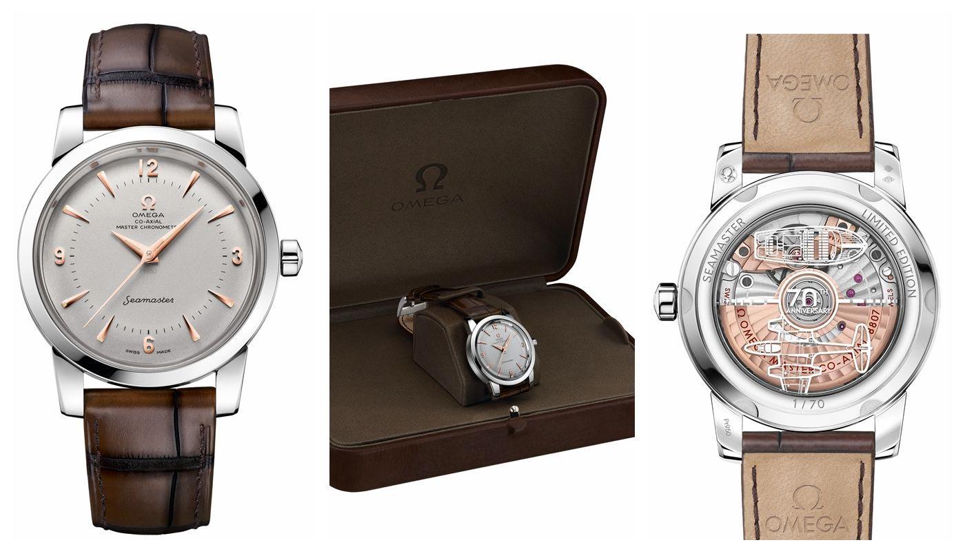 欧米茄海马系列1948中央秒针限量版腕表铂金款511.93.38.20.99.002