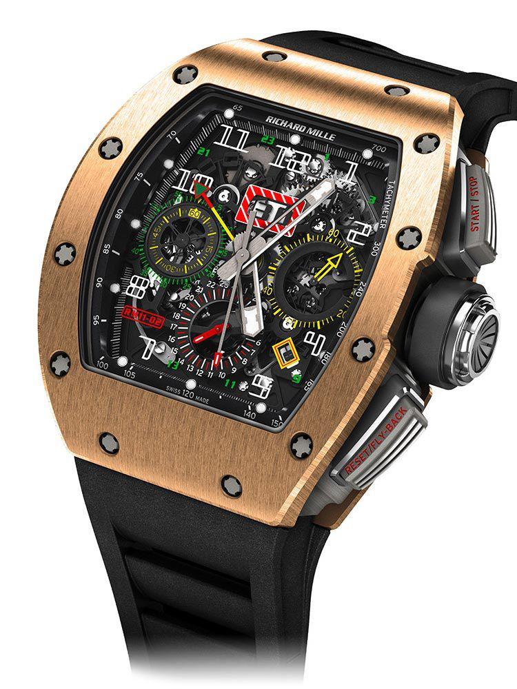 理查德米尔自动上链计时码表GMT腕表RM 011-02 RG