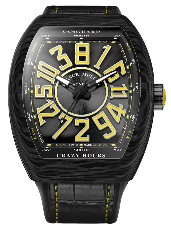 法穆兰Vanguard Crazy Hours™复杂功能腕表V45 CH SC CARBON