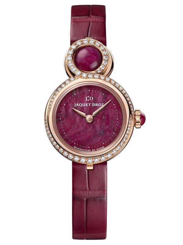 雅克德罗红宝石之心优雅8小针盘(LADY 8 PETITE RUBY HEART)腕表J014603273