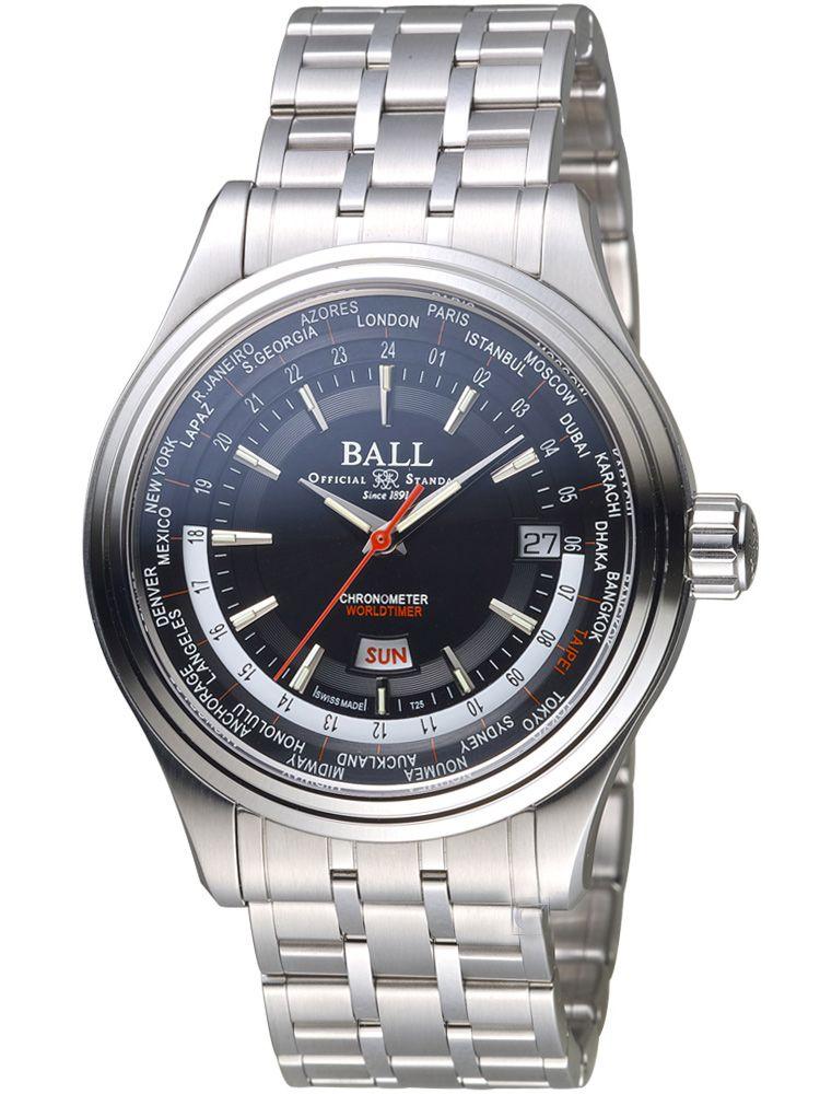 波尔铁路长官系列世界时腕表GM2020D-S3A-BK