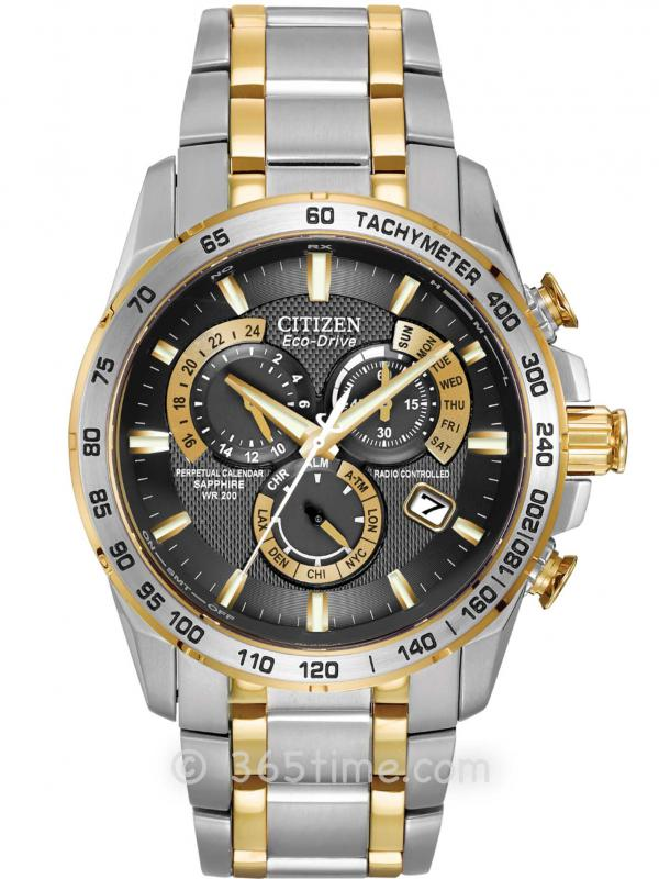 西铁城(CITIZEN) 光动能PERPETUAL CHRONO A-T腕表AT4004-52E