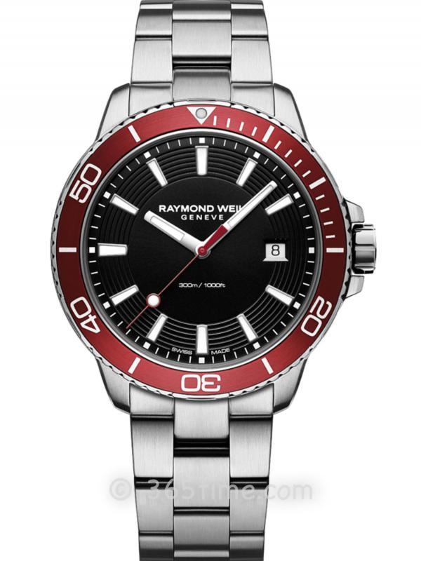 蕾蒙威Tango探戈300米防水男士石英GMT红色潜水8260-ST4-20001