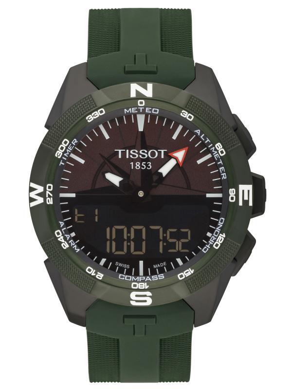 天梭T-Touch Collection触屏系列双时区万年历腕表T110.420.47.051.00