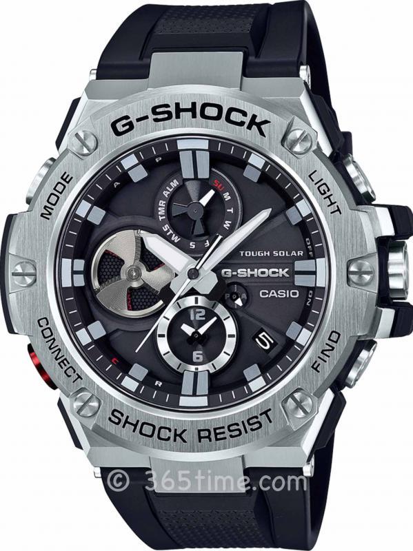 卡西欧G-SHOCK系列G-STEEL GSTB100-1A智能腕表