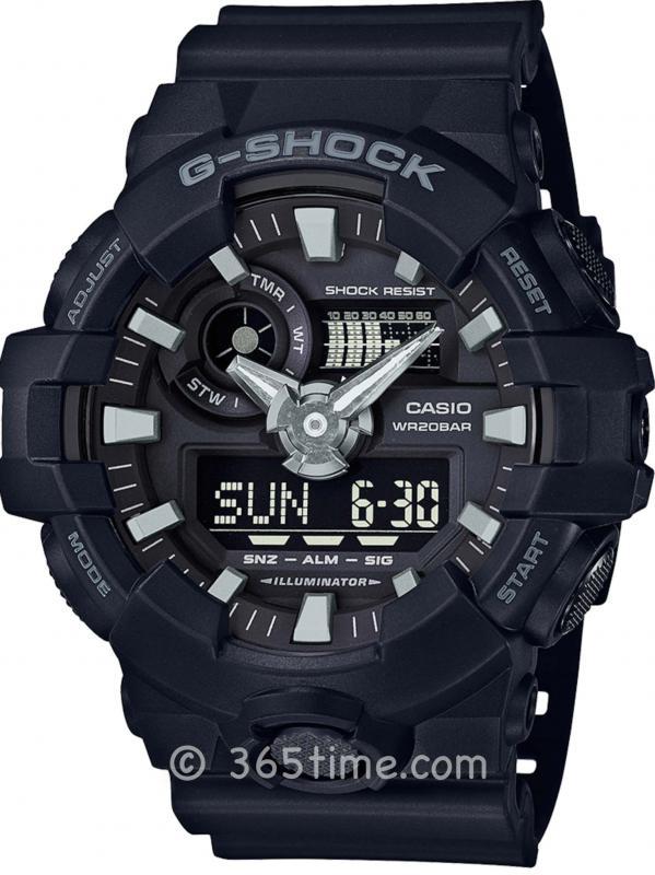 Casio卡西欧G-Shock GA700-1B多维模拟数字手表