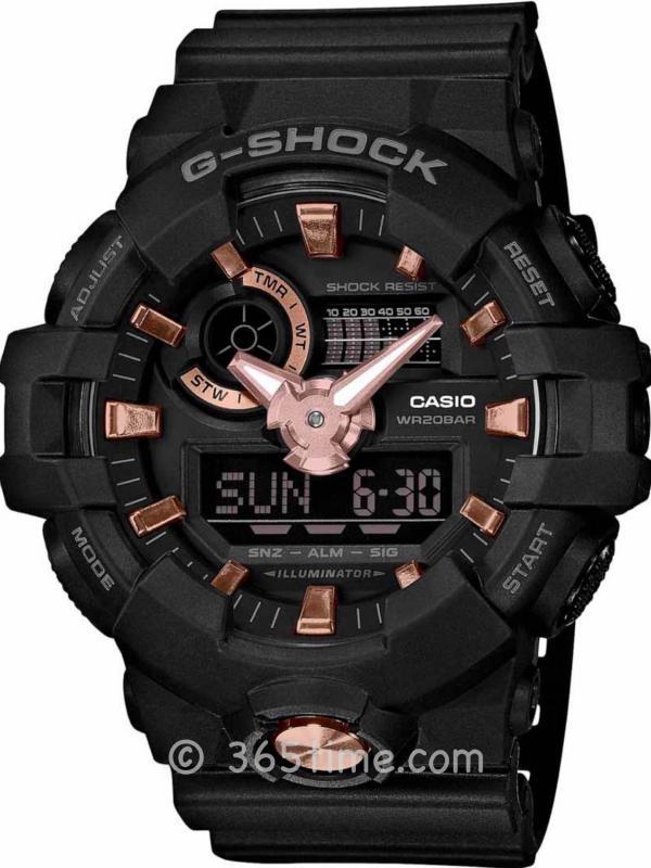 Casio卡西欧G-Shock Analog-Digital GA710B-1A4维模拟数字手表