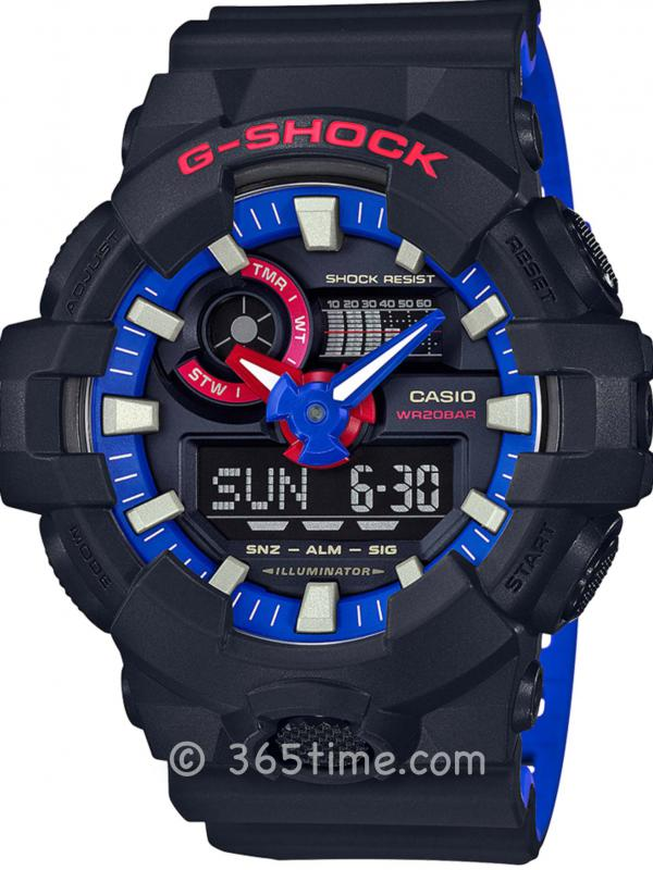 Casio卡西欧G-SHOCK硬碰硬活动主题系列腕表GA700LT-1A