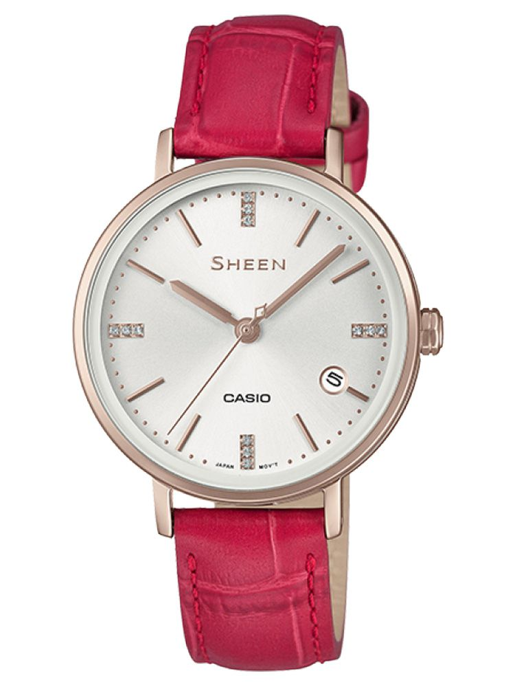 卡西欧SHEEN简约系列女士石英腕表SHE-4048CGL-7A