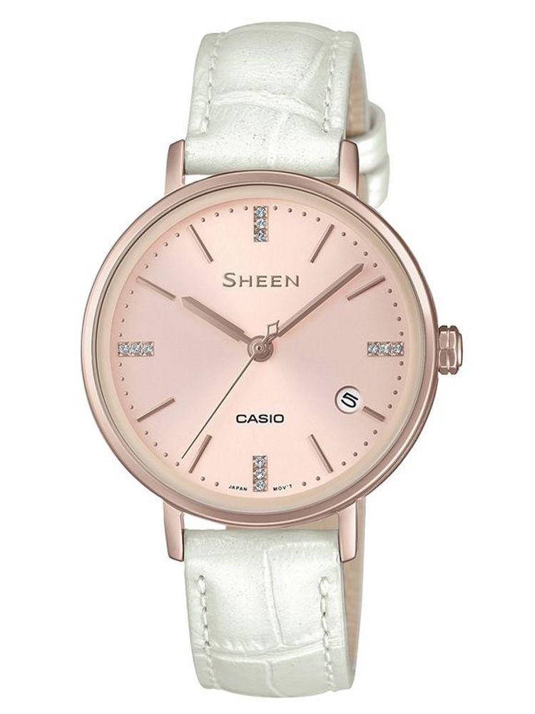 卡西欧SHEEN简约系列女士石英腕表SHE-4048CGL-4A