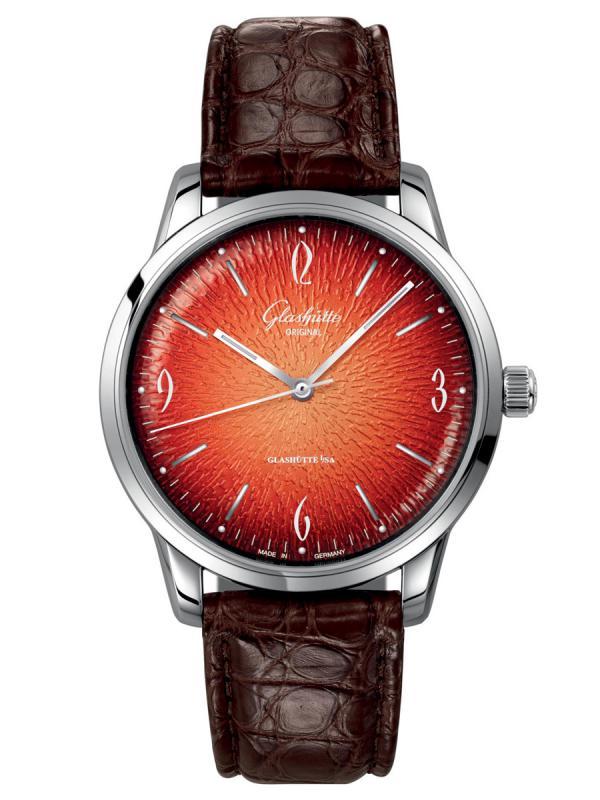 格拉苏蒂原创Sixties 六零年代橙色腕表1-39-52-13-02-04