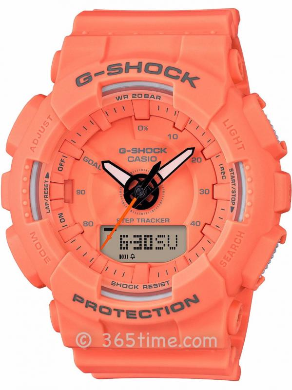 Casio卡西欧G-SHOCK S SERIES系列计步手表GMAS130VC-4A