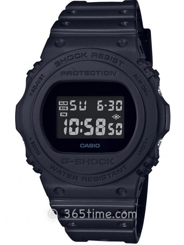 Casio卡西欧G-SHOCK 5700系列复刻版全黑配色腕表DW5750E-1B