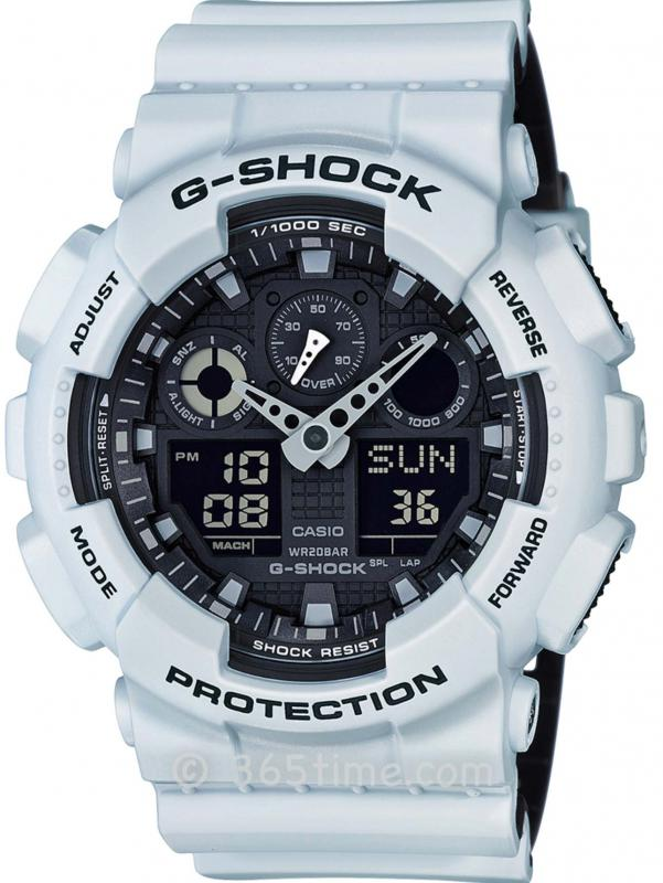 Casio卡西欧G-SHOCK军事风格双显腕表GA100L-7A