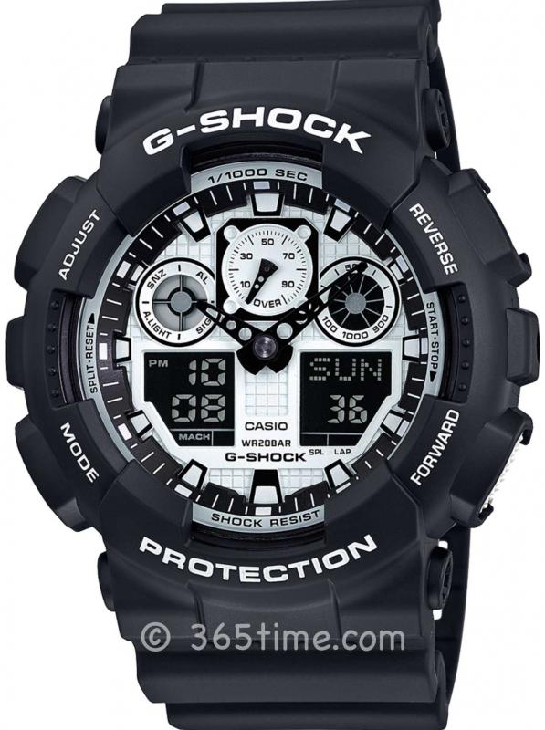 Casio卡西欧G-SHOCK WHITE&BLACK系列腕表GA100BW-1A