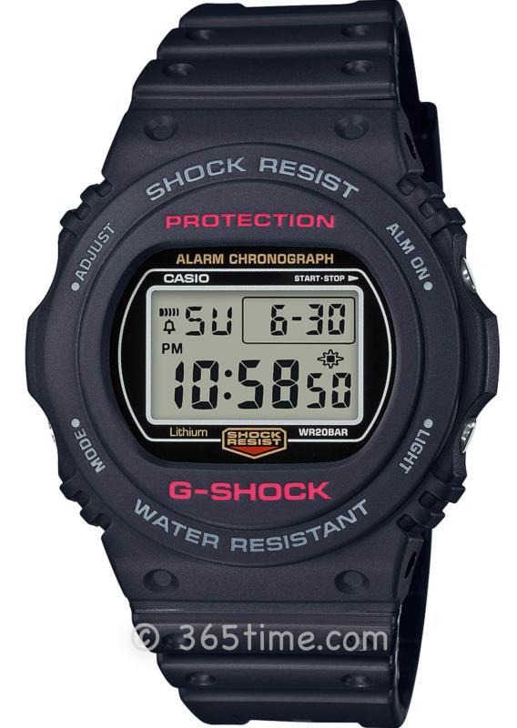 Casio卡西欧G-SHOCK 5700系列复刻版腕表DW5750E-1