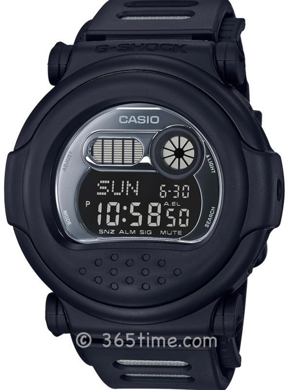 卡西欧G-SHOCK 35周年全黑复刻版腕表G001BB-1