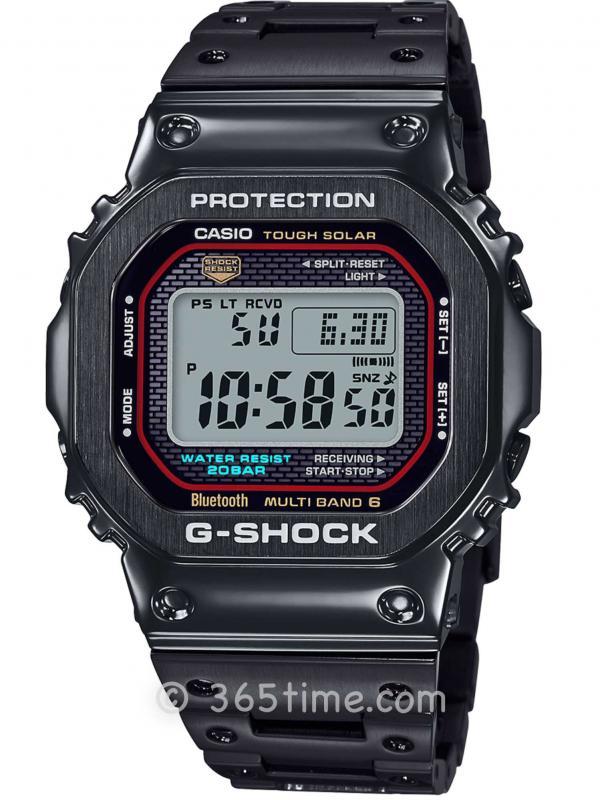 Casio卡西欧G-Shock太阳能六局电波数显腕表GMWB5000TFC-1