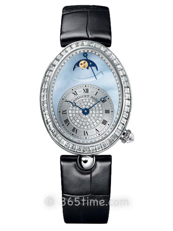 宝玑那不勒斯皇后系列月相动力储备显示女士腕表8909BB/VD/964/D00D