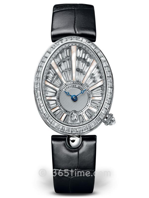 宝玑那不勒斯皇后系列女士白金镶钻自动机械腕表8939BB/6D/964/DD0D