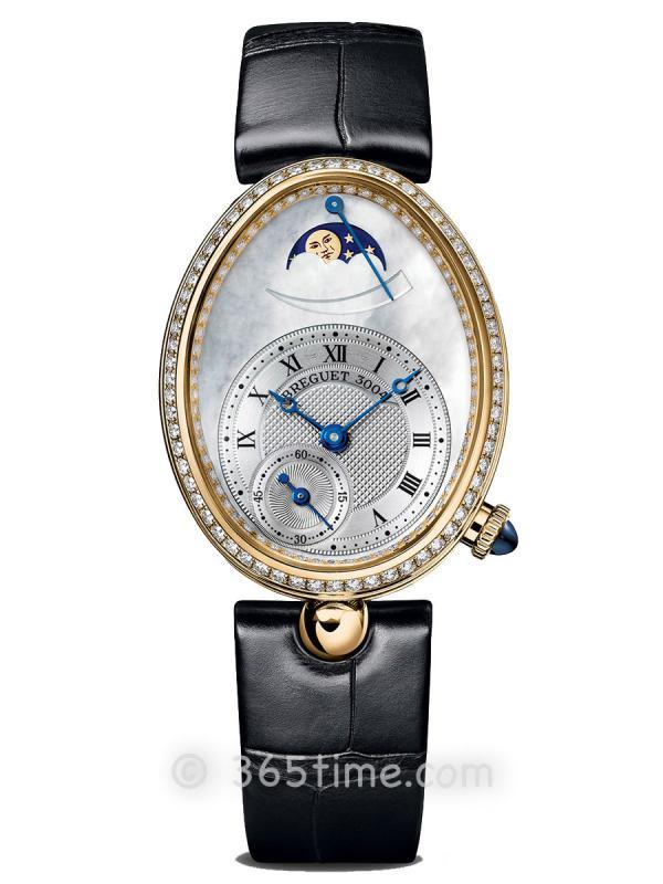 宝玑那不勒斯皇后系列月相动力储备显示女士腕表8908BA/52/964/D00D