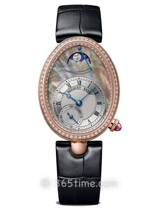 宝玑那不勒斯皇后系列月相动力储备显示女士腕表8908BR/5T/964/D00D