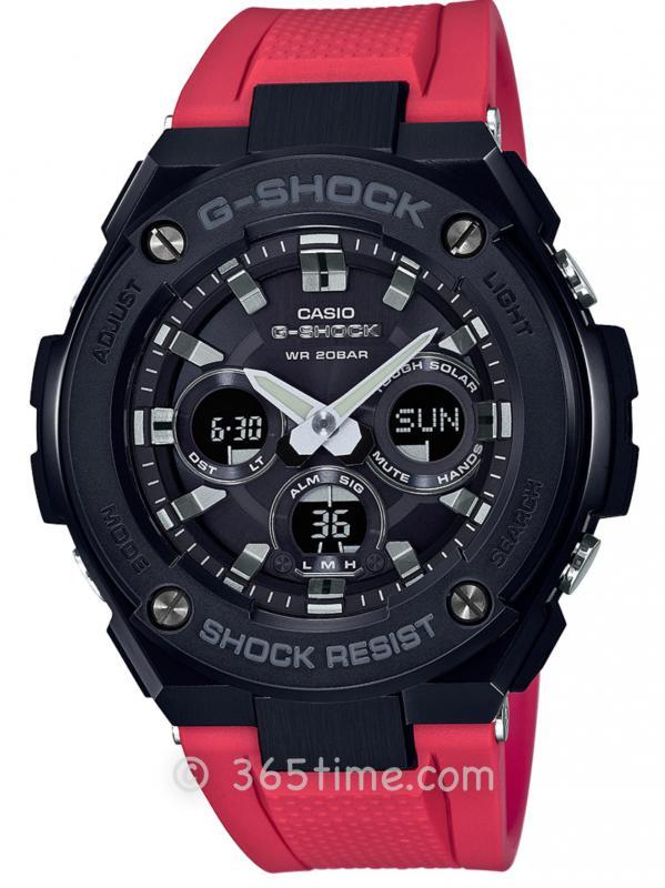 Casio卡西欧G-SHOCK G-steel太阳能六局电波腕表GSTS300G-1A4