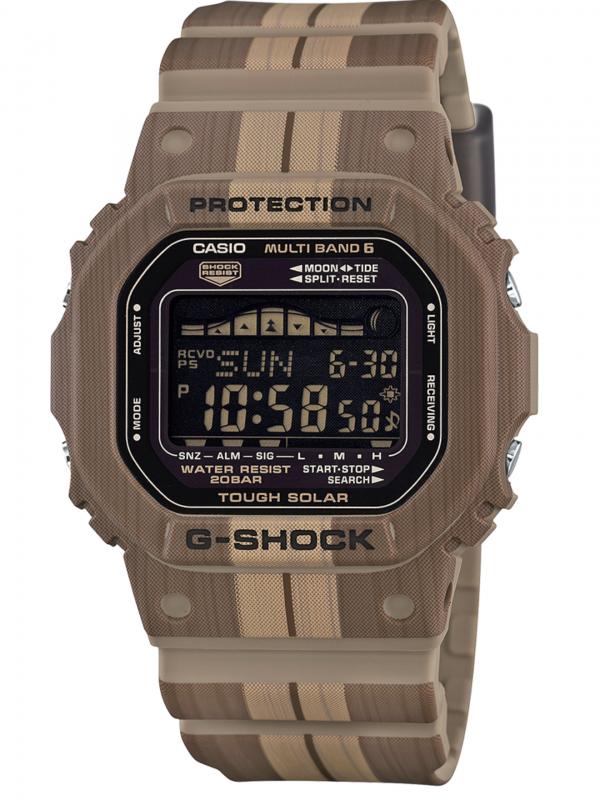 Casio卡西欧G-SHOCK太阳能六局电波潮汐显示手表GWX5600WB-5