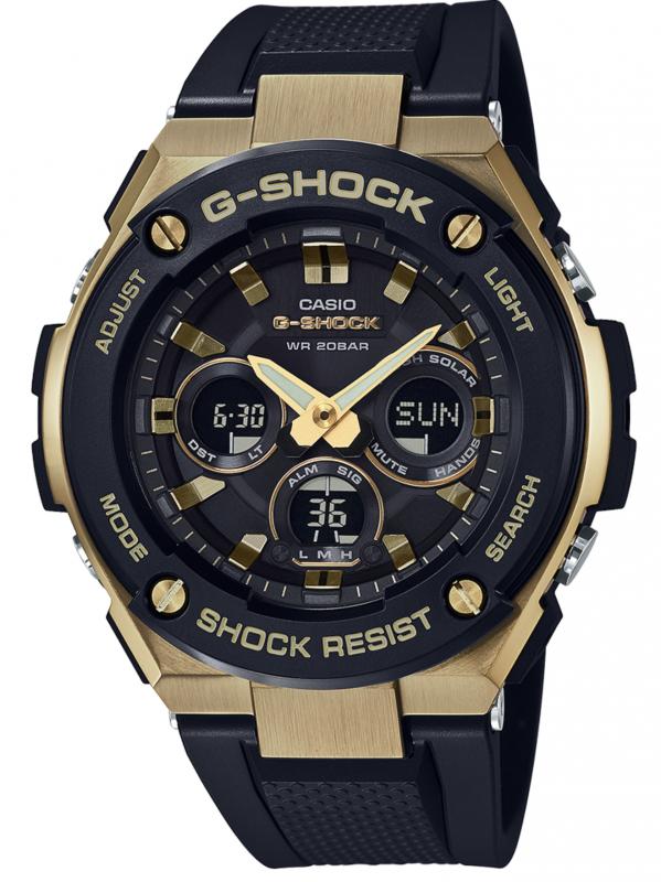 CASIO卡西欧G-SHOCK G-STEEL系列太阳能6局电波腕表GSTS300G-1A9