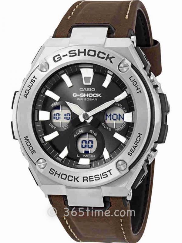 CASIO卡西欧G-SHOCK G-STEEL太阳能腕表GSTS130L-1A
