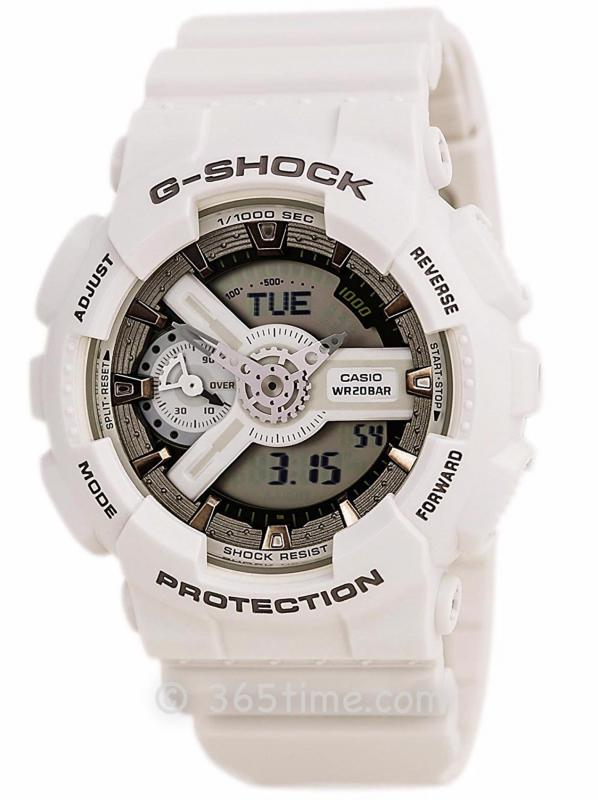 Casio卡西欧G-SHOCK S SeriesCHIC MILITARY军队风格GMAS110CM-7A2