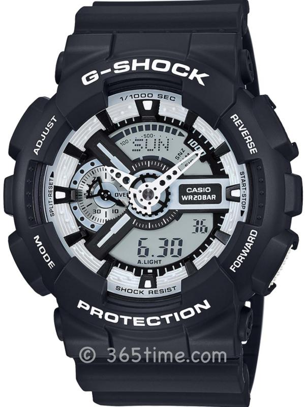 Casio卡西欧G-SHOCK WHITE&BLACK系列腕表GA110BW-1A
