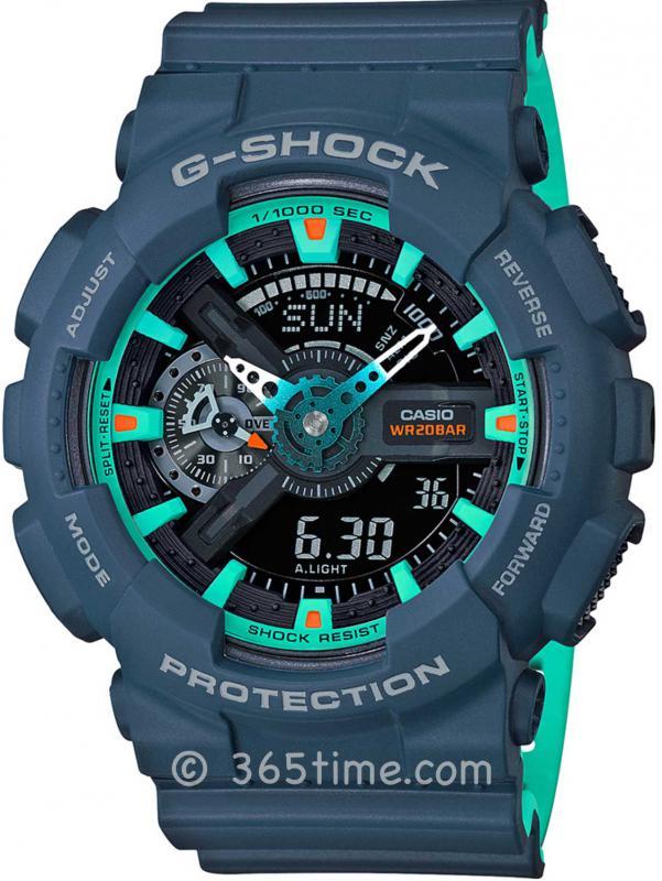 Casio卡西欧G-SHOCK海军蓝主题腕表GA-110CC-2A
