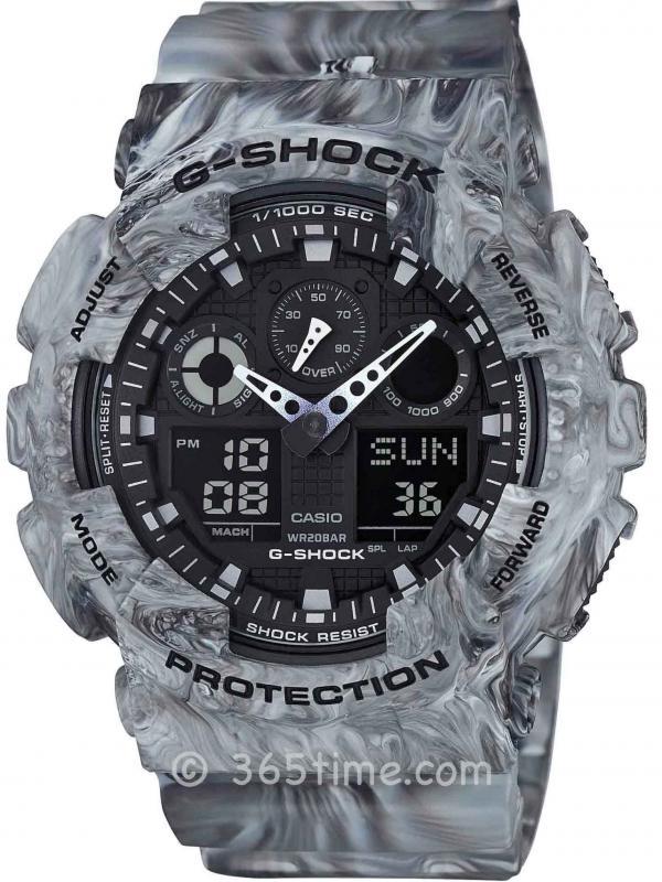 Casio卡西欧G-SHOCK混合迷彩主题腕表GA-100MM-8
