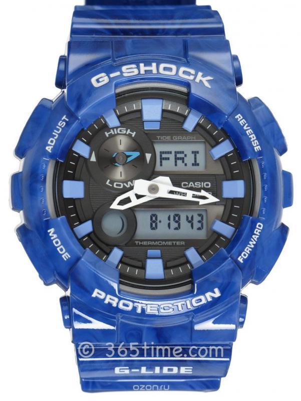 CASIO卡西欧G-SHOCK冲浪系列GAX-100MB-2A潮汐显示运动男表