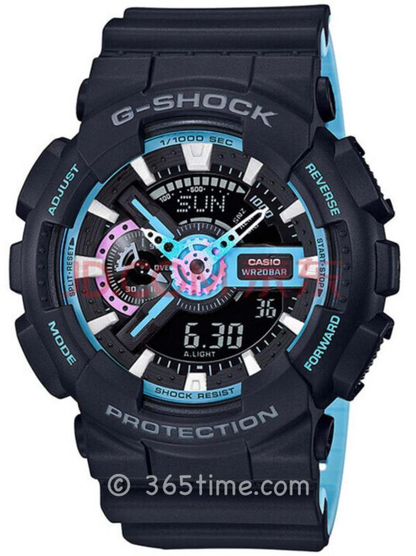 CASIO卡西欧G-SHOCK CITYBATTLE腕表GA-110PC-1APR