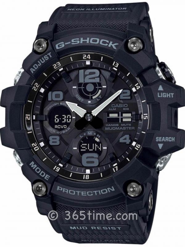 Casio卡西欧G-SHOCK陆地系列太阳能6局电波腕表GWG-100-1A
