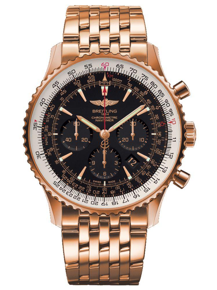 百年灵航空计时01腕表(46毫米)红金限量版RB0127E6/BF16/443R