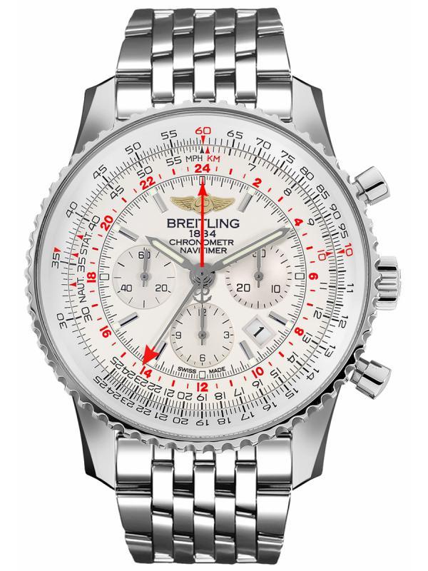 百年灵航空计时1 B04世界时间腕表48毫米AB044121G783453A