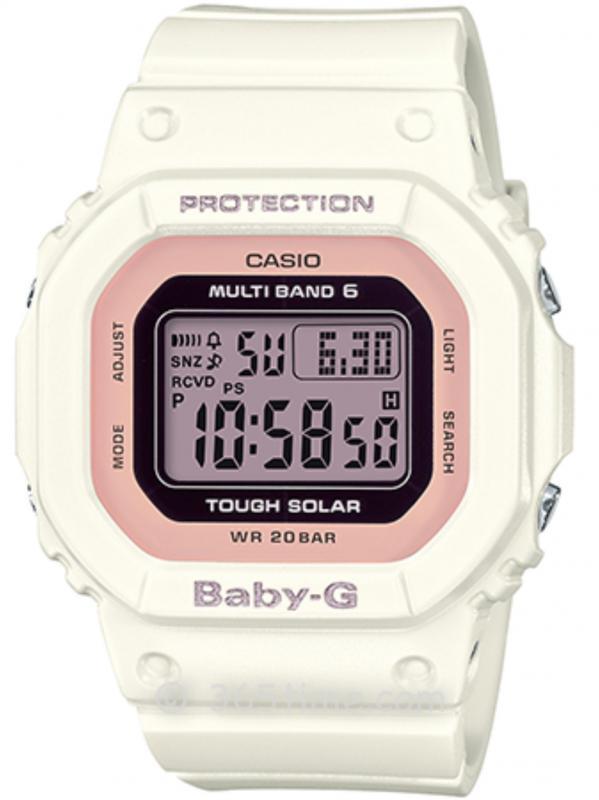 CASIO卡西欧BABY-G经典系列太阳能六局电波表BGD-5000-7DPR