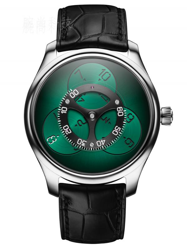 亨利慕时勇创者FLYING HOURS宇宙绿腕表1806-0201