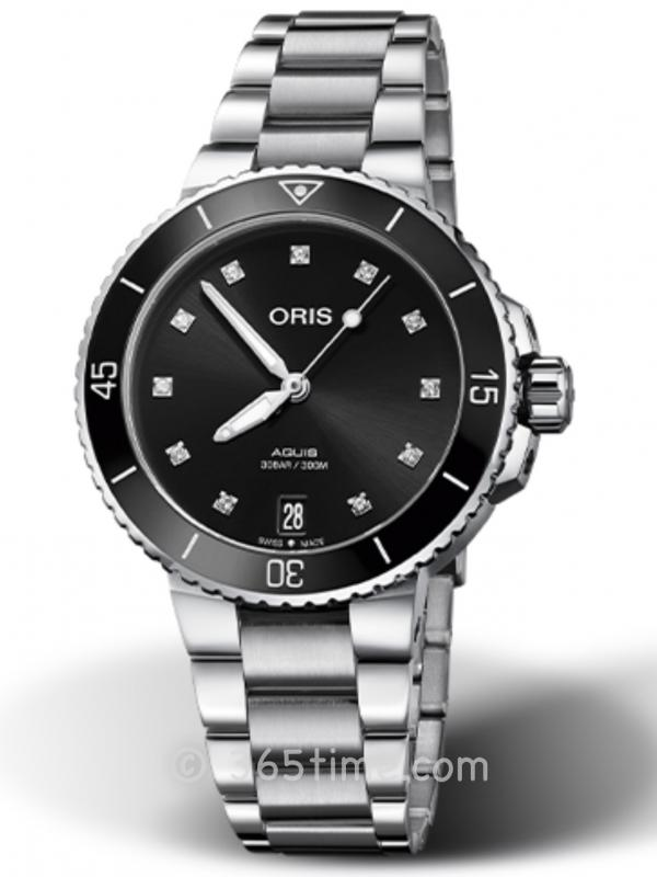 ORIS豪利时潜水系列AQUIS日历钻石腕表01 733 7731 4194-07 8 18 05P